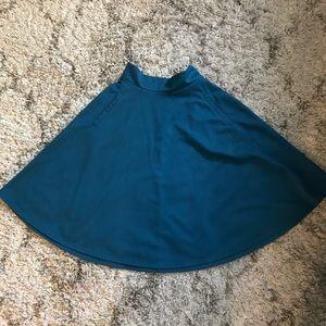 H&M Teal Circle Skirt